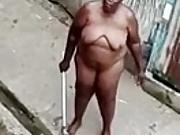 Angry naked Jamaican