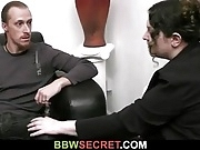 BBW lures him into cheating sex
