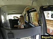 Bigtitted brit taxi babe titfucking cabdriver