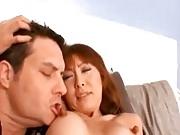 Japanese MILF with huge nipples