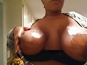 Jiggly Black Milk Titties (Oiled Up)