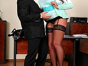 Emma Butt & Tigerr Benson fuck with guy at office