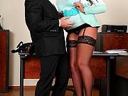 Emma Butt & Tigerr Benson fuck with guy at office