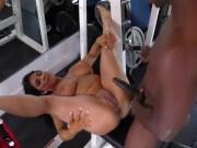 Raven Hart fucks a black bodybuilder