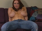 Fake tits ripped jeans fuck