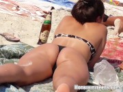 Sexy Thong Ass Milfs Hot Bikini Teens Beach Voyeur HD Video