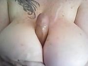 Dildo titfuck