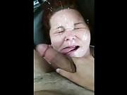 Facializing a Cum Whore