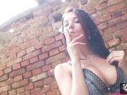 Adrianne Black Smoking