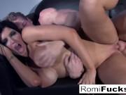 Sexy tease followed by hard sex with Romi Rain