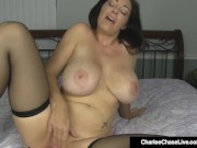 Horny Hazel Eyed Charlee Chase Plugs Both Her Willing Holes!
