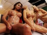 Lesbian car wash - Scene 6