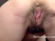 Kaira enjoys masturbating after her sexy stripping