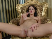 Black Haired Eurobabe With Amazing Tits Has a Wank