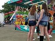 Busty Teen At Fairgrounds