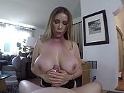 Big tits step mom blowjob, titty fucking and hard fuck