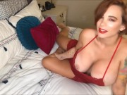 MILF Brittany Elizabeth wants you to feel hot on her big natural boobs