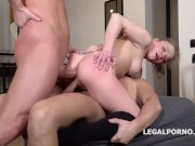 Alexa Flexy gets 2on1 Anal and DP with rough sex