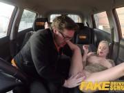 Fake Driving School Blonde Polish babes pussy gets slammed