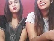 Two sexy sluts doing seflies