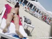 Thong Ass Bikini horny Milfs Beach Voyeur HD