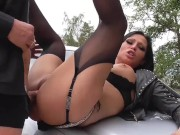 German Milf Outdoor Anal