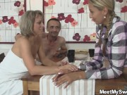 Family threesome leads to foursome with her boyfriend